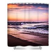 The Wedge Newport Beach California Picture Shower Curtain by Paul Velgos