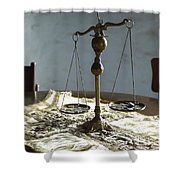 The Weight Of Money Shower Curtain