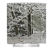 The Weight Of Winter Shower Curtain