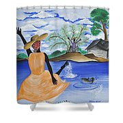 The Welcome River Shower Curtain