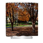 The Well In The Distance-davidson College Shower Curtain