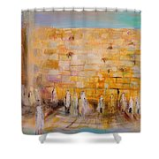 The Western Wall Shower Curtain