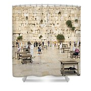 The Western Wall In Jerusalem Israel Shower Curtain