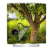 The Wheelbarrow Shower Curtain
