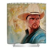 The White Hat Shower Curtain