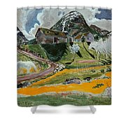 The White Horse In Spring  Shower Curtain