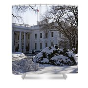 The White House In Winter Shower Curtain