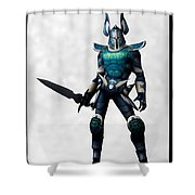 The White Knight... Shower Curtain
