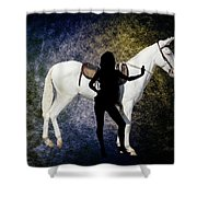 The White Mule Shower Curtain
