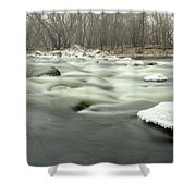 The White Rock  Shower Curtain