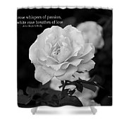 The White Rose Breathes Of Love Shower Curtain
