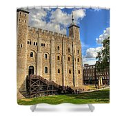 The White Tower Shower Curtain