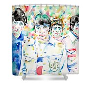 The Who - Watercolor Portrait Shower Curtain