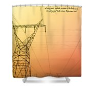 The Whole Body Fitly Joined Together  Shower Curtain