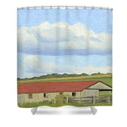 The Whole Farm To Himself Shower Curtain