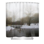 The Willows In Winter - Newtown Square Pa Shower Curtain