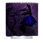 The Wilted Blue Rose Shower Curtain