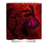 The Wilted Pink Rose Shower Curtain