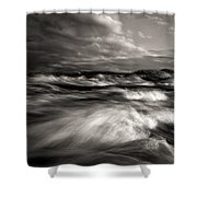 The Wind And The Sea Shower Curtain by Bob Orsillo