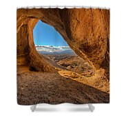The Wind Caves Shower Curtain