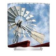 The Wind Wheel Shower Curtain
