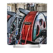 The Winding Engine Shower Curtain