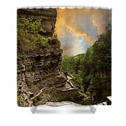The Winding Trail Shower Curtain
