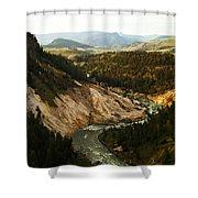 The Winding Yellowstone Shower Curtain