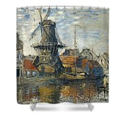 The Windmill On The Onbekende Gracht Amsterdam Shower Curtain