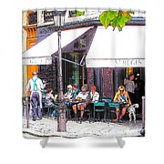 The Wine Bar In Paris Shower Curtain