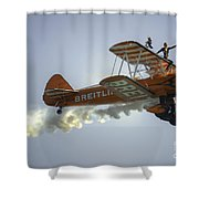 The Wing Walker  Shower Curtain