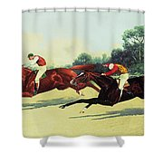 The Winning Post In Sight Shower Curtain by Henry Stull