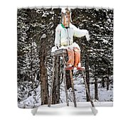 The Winter Greeter Shower Curtain