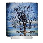 The Wishing Tree Shower Curtain by John Edwards