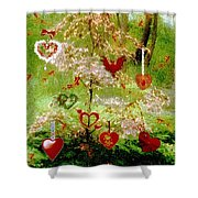 The Wishing Tree Shower Curtain