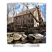 The Wissahickon Creek And Mather Mill Shower Curtain