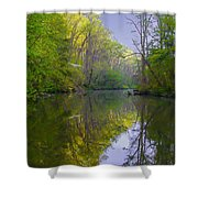 The Wissahickon Creek In The Morning Shower Curtain