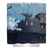 The Witch House In Infrared Shower Curtain