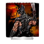 The Wolverine Shower Curtain