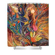 The Women Of Tanakh - Miriam With Timbrels Shower Curtain