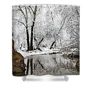 The Wonders Of Winter  Shower Curtain