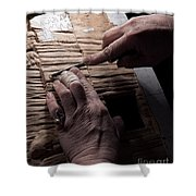 The Wood Carver Shower Curtain