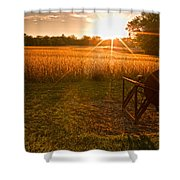 The Wood Cutter Buzz Saw Shower Curtain