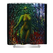 The Wood Nymph Tempts Shower Curtain