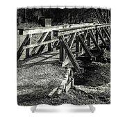 The Wooden Bridge Shower Curtain