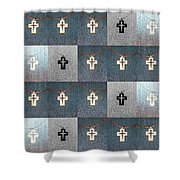 The Wooden Cross Shower Curtain