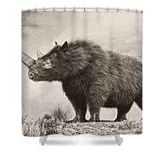 The Woolly Rhinoceros Is An Extinct Shower Curtain