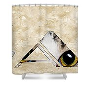 The Word Is Cat Shower Curtain by Andee Design