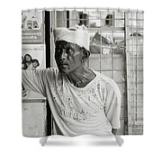 The Worker In Cochin Shower Curtain