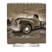 The Workhorse In Sepia - 1953 Chevy Truck Shower Curtain